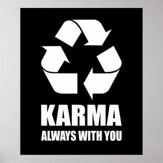 Karma Always With You Buddhist Buddha Funny Poster