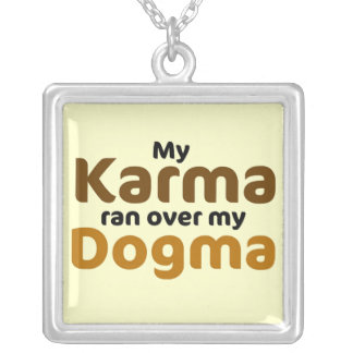 Karma and Dogma Square Pendant Necklace