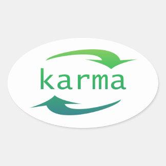Karma Arrow Oval Stickers