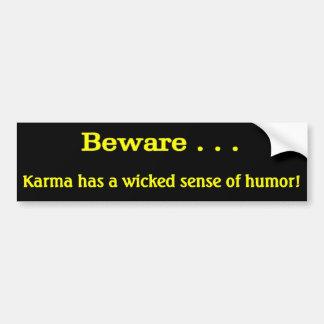 Karma Bumper Sticker