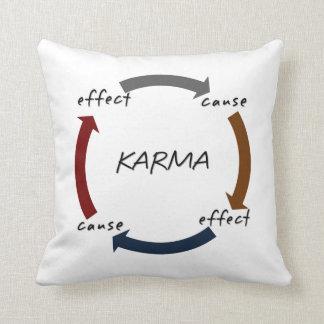 Karma Cause Effect Throw Pillow