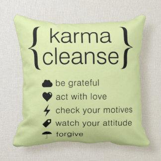 Karma Cleanse Throw Pillow