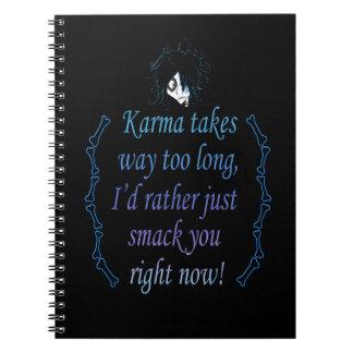 Karma (Color) Spiral Notebook