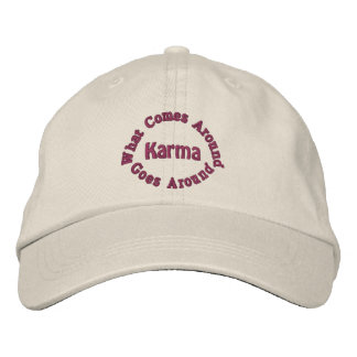 Karma Comes Goes Inspirational Embroidered Hats