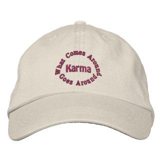 Karma Comes Goes Inspirational Embroidered Hats