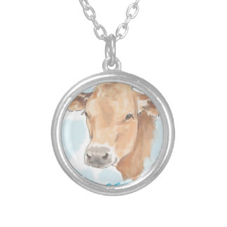 Karma Cow Silver Plated Necklace