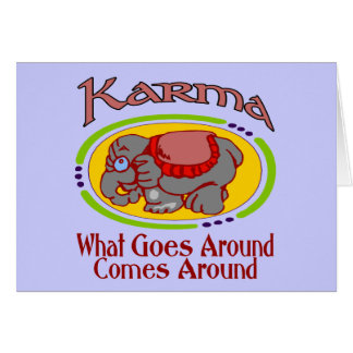 Karma Elephant Card