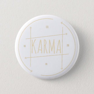 Karma (For Dark Background) 2 Inch Round Button