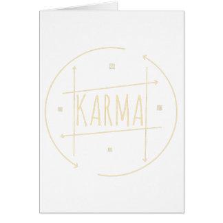 Karma (For Dark Background) Card