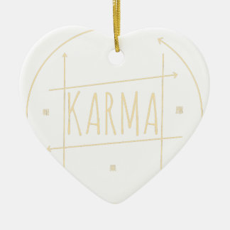 Karma (For Dark Background) Ceramic Ornament