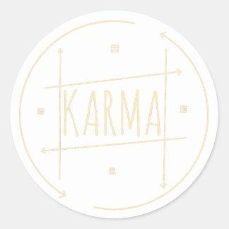 Karma (For Dark Background) Classic Round Sticker