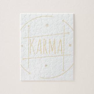 Karma (For Dark Background) Jigsaw Puzzle