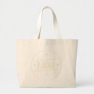 Karma (For Dark Background) Large Tote Bag