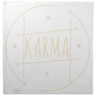 Karma (For Dark Background) Napkin