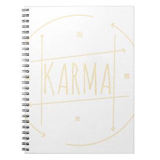 Karma (For Dark Background) Notebooks