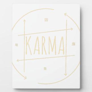 Karma (For Dark Background) Plaque
