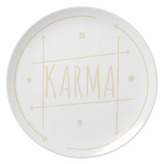 Karma (For Dark Background) Plate