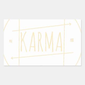 Karma (For Dark Background) Sticker