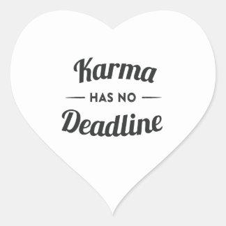 Karma has no Deadlines Heart Stickers