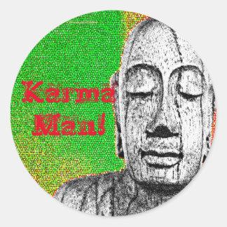 Karma Man Classic Round Sticker