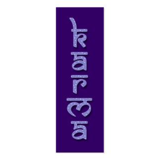 karma - purple business card templates