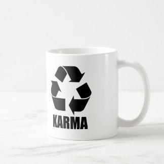 Karma recycle sign classic white coffee mug