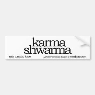 karma shwarma bumper sticker