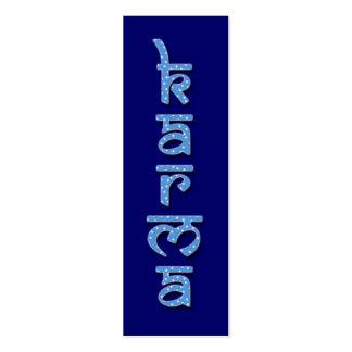 karma - sky mini business card
