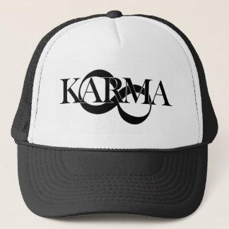 Karma with infinity symbol trucker hat