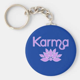 Karma with Lotus Flower Tshirt Keychain
