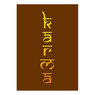 karma - yellow business card templates