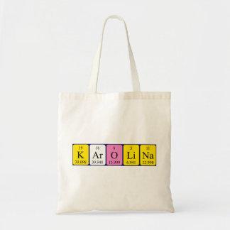 Karolina periodic table name tote bag