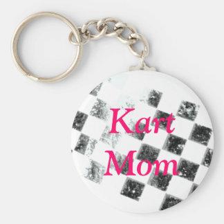 Kart Mom Basic Round Button Keychain