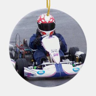 Kart Racer Ceramic Ornament