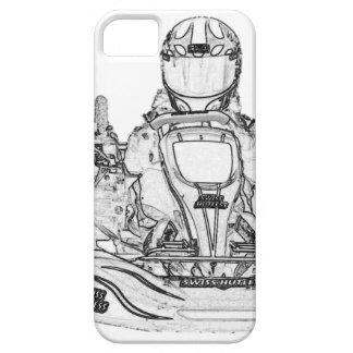 Kart Racer Pencil Sketch iPhone 5 Covers