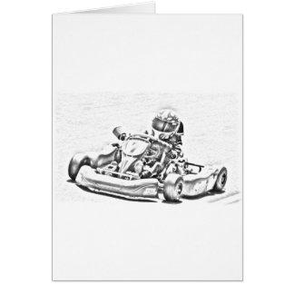 Kart Racing B/W Shading Card