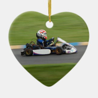 Kart Racing Ceramic Ornament