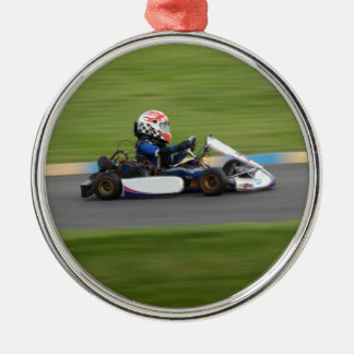 Kart Racing Metal Ornament