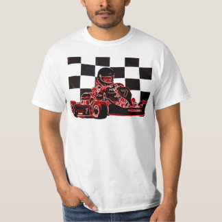 Kart Racing Red/Chequered Flag T-Shirt