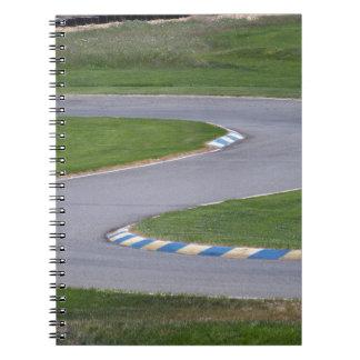Kart Track Spiral Note Book