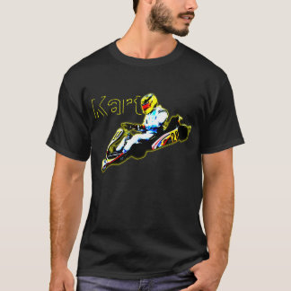 Karting in Yellow T-Shirt
