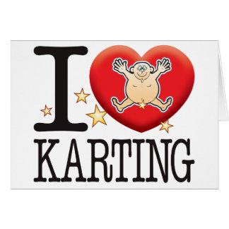Karting Love Man Greeting Card