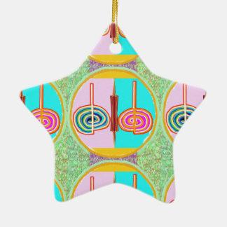 KARUNA Reiki : Kreeya Infinite Balancing Symbol Ceramic Star Ornament