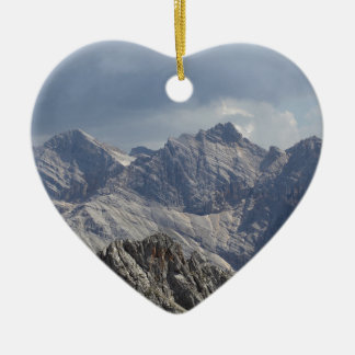 Karwendel range in the Bavarian Alps. Ceramic Heart Ornament