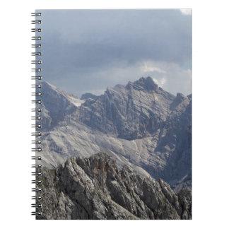 Karwendel range in the Bavarian Alps. Notebook