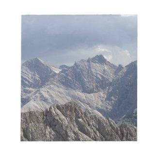 Karwendel range in the Bavarian Alps. Notepad