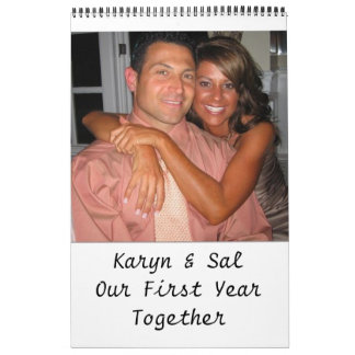 Karyn & Sal Our First Year Together Calendar