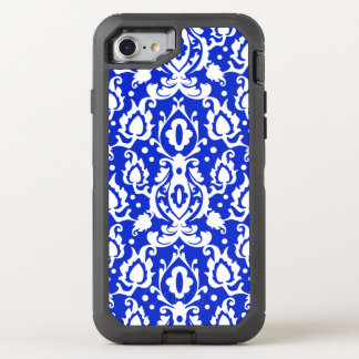 Kasbah Moroccan Damask Blue and White OtterBox Defender iPhone 7 Case