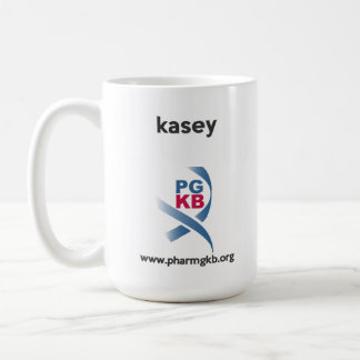 kasey - curate red coffee mug