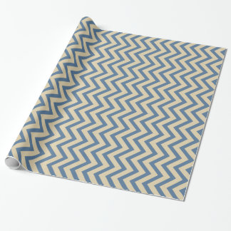 Kashmir Blue Spice Moods Chevrons Wrapping Paper